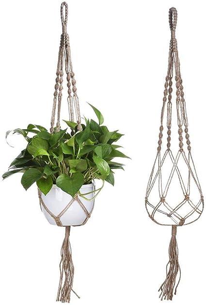 Jute Vase Plant Macrame Plant Hanger