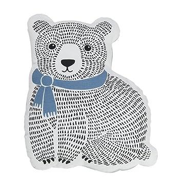 Bloomingville bambini del cuscino con orso motivo in diversi colori e motivi