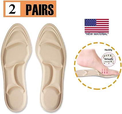 Womens Foot Support Massage High Heels Sponge Anti Pain Shoe Insoles Insert Pads