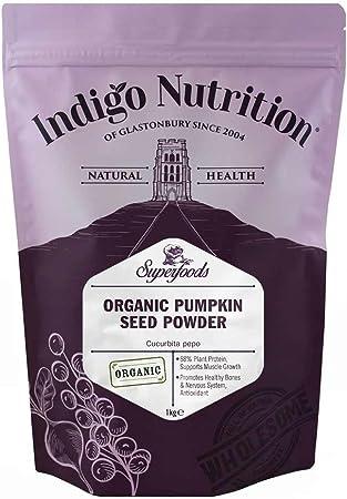 Indigo Herbs Polvo ecológico de Proteína de Semilla de Calabaza 1kg