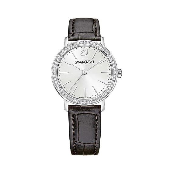 SWAROVSKI - Cristalina oval del reloj de oro rosa de Swarovski pulsera de tono 5200341: Amazon.es: Relojes