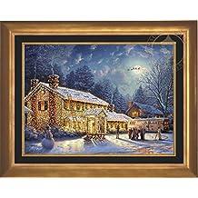 "National Lampoon's Christmas Vacation - Thomas Kinkade 25.5"" x 34"" Artist Proof (AP) Limited Edition Canvas (Aurora Gold)"