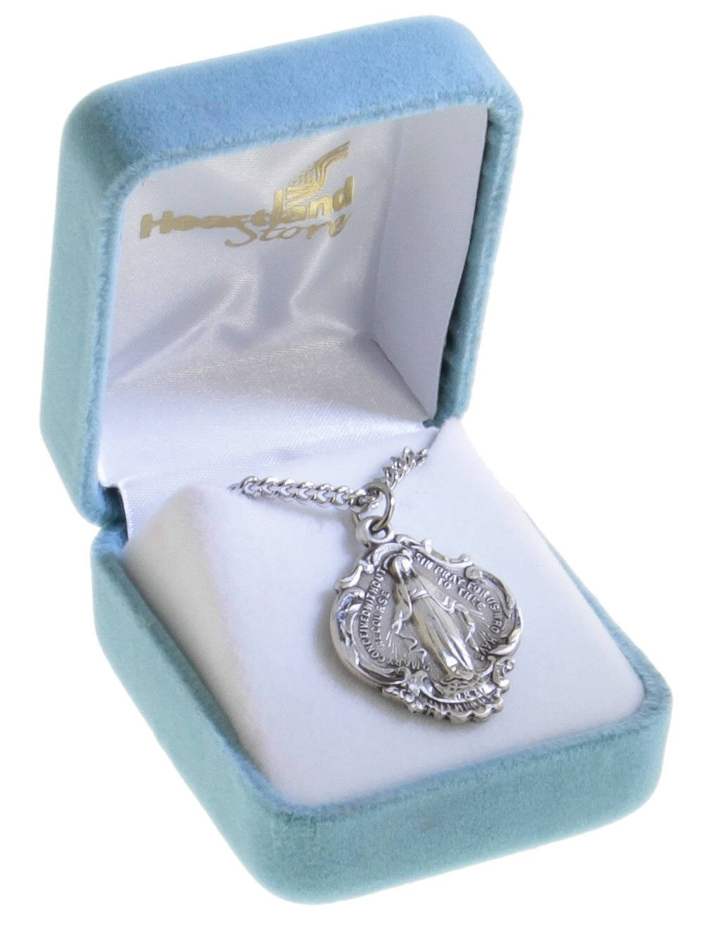 Hail Mary Prayer Sterling Silver Pendant + 24 Inch Sterling Silver Chain with Clasp by Heartland Store (Image #2)