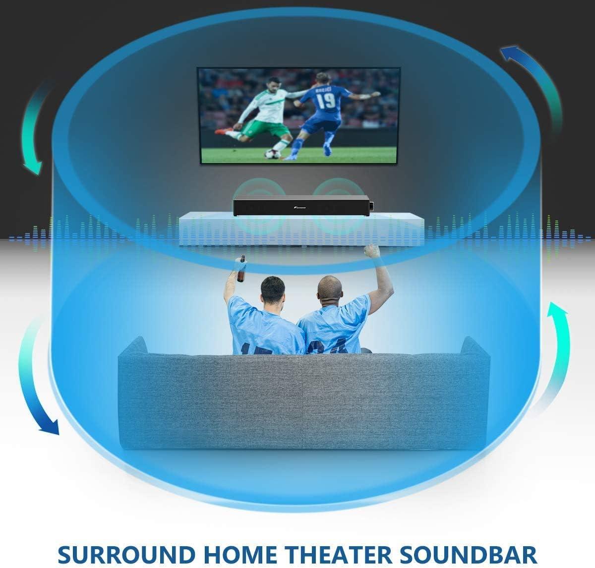 tablet PC Soundbar Foxnovo altoparlante bluetooth Soundbar 20 W Wired e wireless proiettore portatile Home Theater altoparlante bluetooth audio surround Sound Bar per TV cellulare