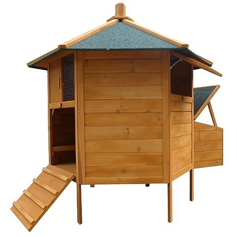 Gallinero hexagonal, pajarera, jaula para gallinas con nido