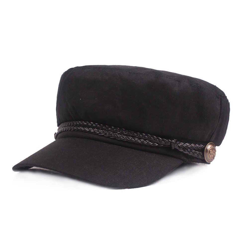 Gysad Gorra Marinero Mujer Vintage Sombrero Hombre Algod/ón y Lino Gorras Planas Unisex Boina Newsboy Hat