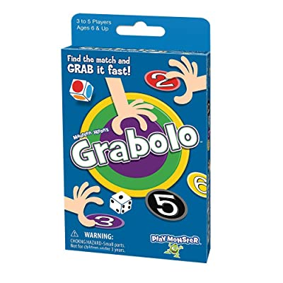 PlayMonster Grabolo - Fast-Grabbing Card Game: Toys & Games