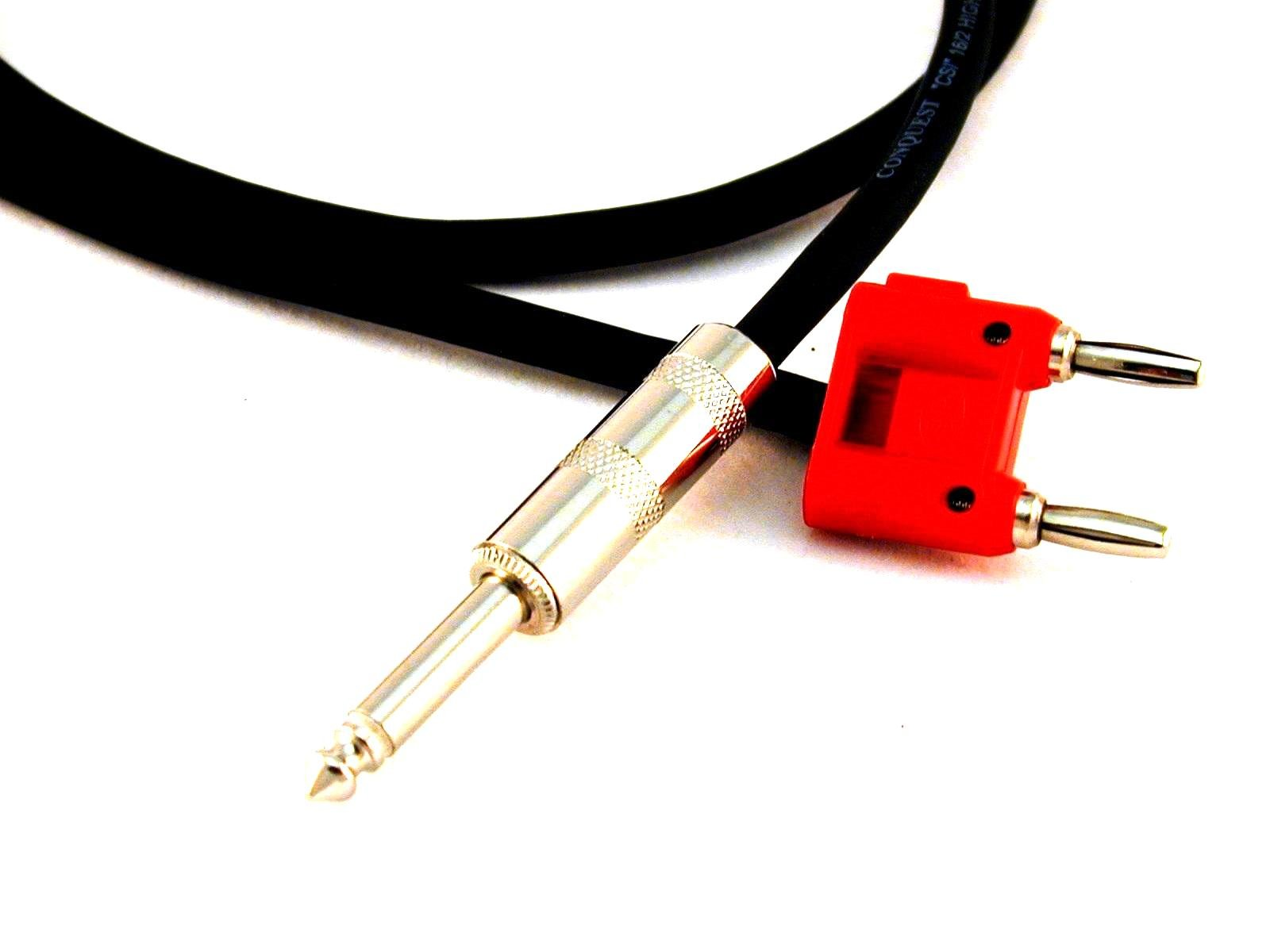 Conquest Sound CS116B 25-Feet Neutrik 1/4-Inch to Double Banana Plug 16 Gauge Speaker Cable by Conquest Sound