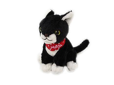 Peluche Gatito con sonido Miau (gato negro Merle)
