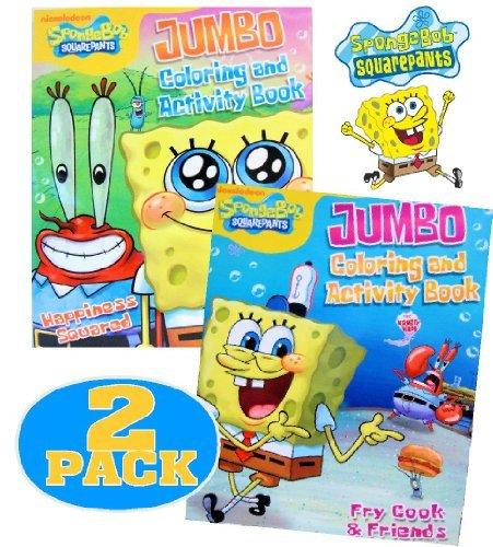 Nick Squarepants Jr Spongebob - Nick Jr.® Spongebob SquarePants Coloring and Activity Book Set (2 Books ~ 96 pgs each)