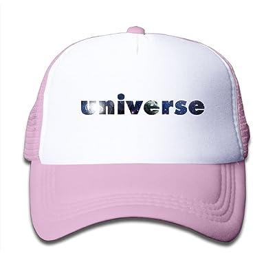 WLF Boys&Girls Universe Starry Kids Adjustable Mesh Hat Trucker Cap