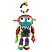 YeahiBaby Baby Soft Hanging Toy Robot Stuffed Stroller Crib Swing With Molar Rod