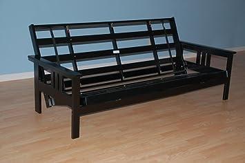 monterey futon frame in black finish - Wooden Futon Frame