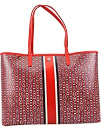 Tory Burch Women's Gemini Link Tote Bag Top-Handle - Exotic Red