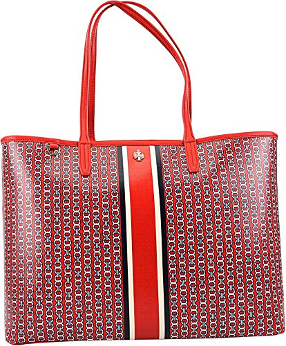 Tory Burch Gemini Link Tote Shoulder Bag (Exotic Red) by Tory Burch