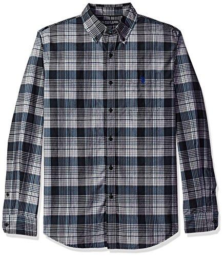 U.S. Polo Assn. Mens Long Sleeve Medium Plaid Sport Shirt