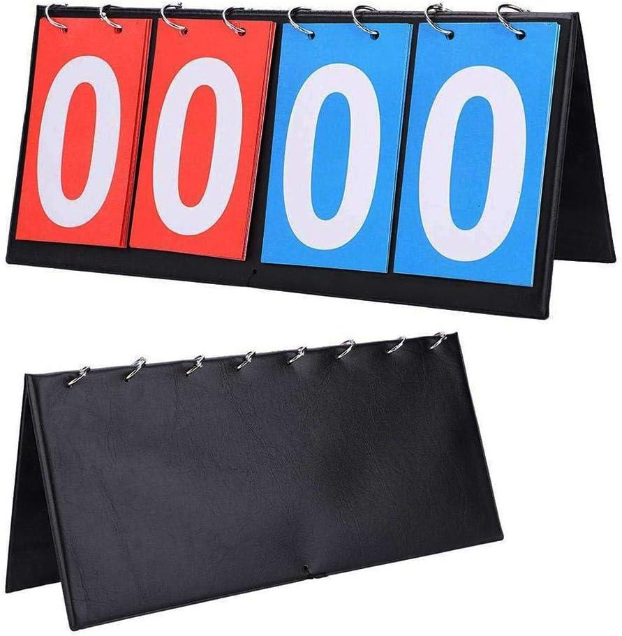 SNIIA 4-Digital Marcadores De Puntuación Portátil Marcador Deportivo Manual De Mesa Marcador De Competencia Interior para Baloncesto, Fútbol, Tenis, Badminton Usual