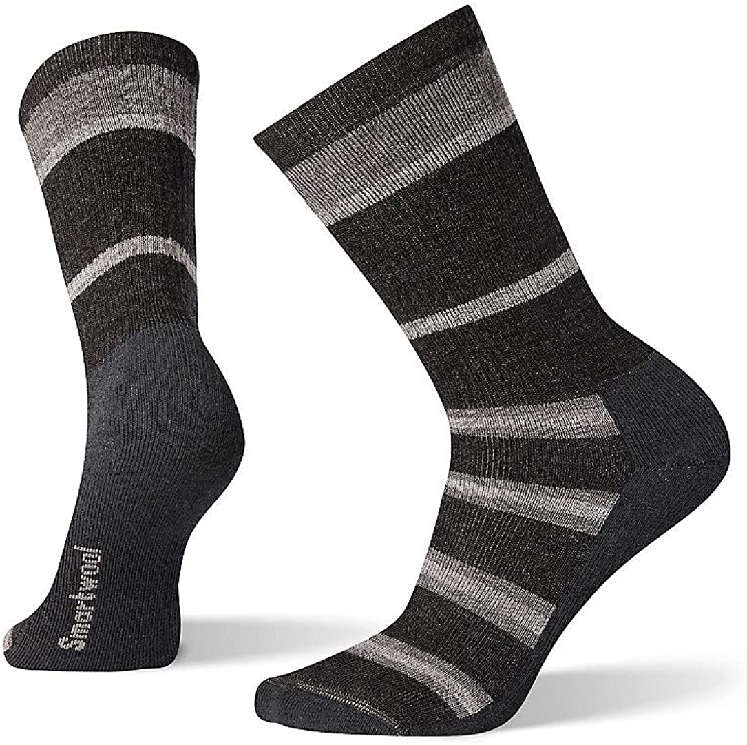 Smartwool Hiking Crew Socks - Men's Striped, Medium Cushioned Wool Performance Sock