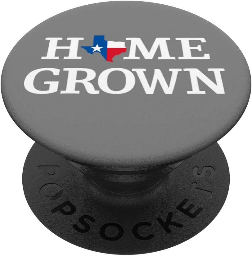 Home Grown Texas State Flag Lone Star Homegrown Design PopSockets Grip and Stand for Phones and Tablets