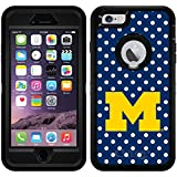 Michigan Mini Polka Dots design on Black OtterBox Defender Series Case for iPhone 6 Plus and iPhone 6s Plus