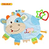 TOLOLO Baby Cartoon Animals Doll Comfort Towel Sleeping Plush Toys Newborn to Appease Towel Cloth Can Bite