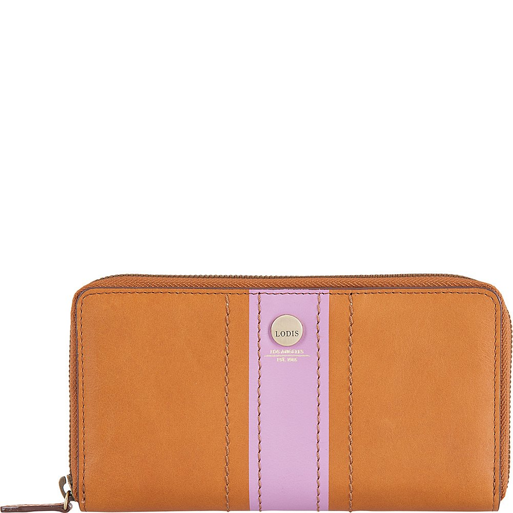 Lodis Rodeo Stripe RFID Perla Zip Wallet (Toffee)