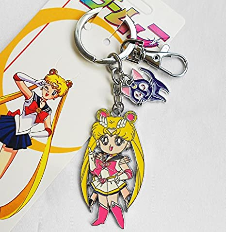Sailor Moon llavero Metal cifras Cartoon Clave Cadenas ...