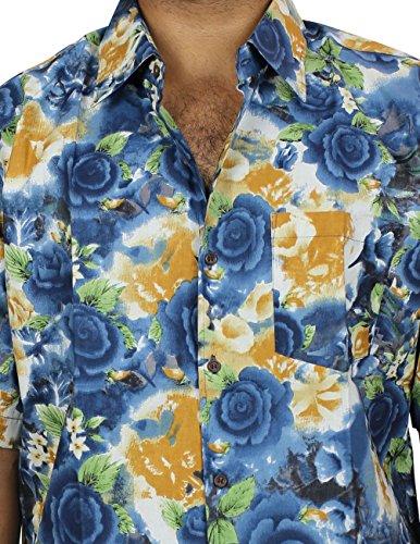 Baumwolle Hawaiian Print Strand Floral Shirt Für Herren, Herren Prämie Indischen Gedrückt