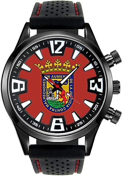 Timest - Bandera de Alava España - Reloj para Hombre con Correa de Silicona Negro Analógico Cuarzo SF529: Timest: Amazon.es: Relojes