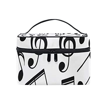 Amazon com : Cosmetic Bags Music Symbols Women Wash Bag Small