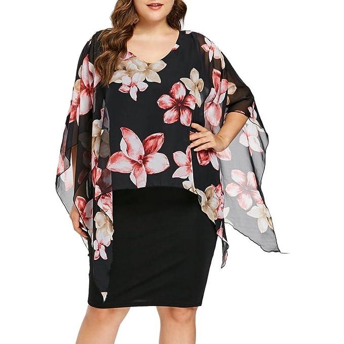 camicetta donna MEIbax MEIbax Vestiti da Donna Eleganti da Cerimonia Abiti  O Collo Wrap Prom 72fb9c3266e