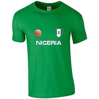 EBUK Nigeria Copa Mundial fútbol 2018 Retro décontracté Camiseta ...
