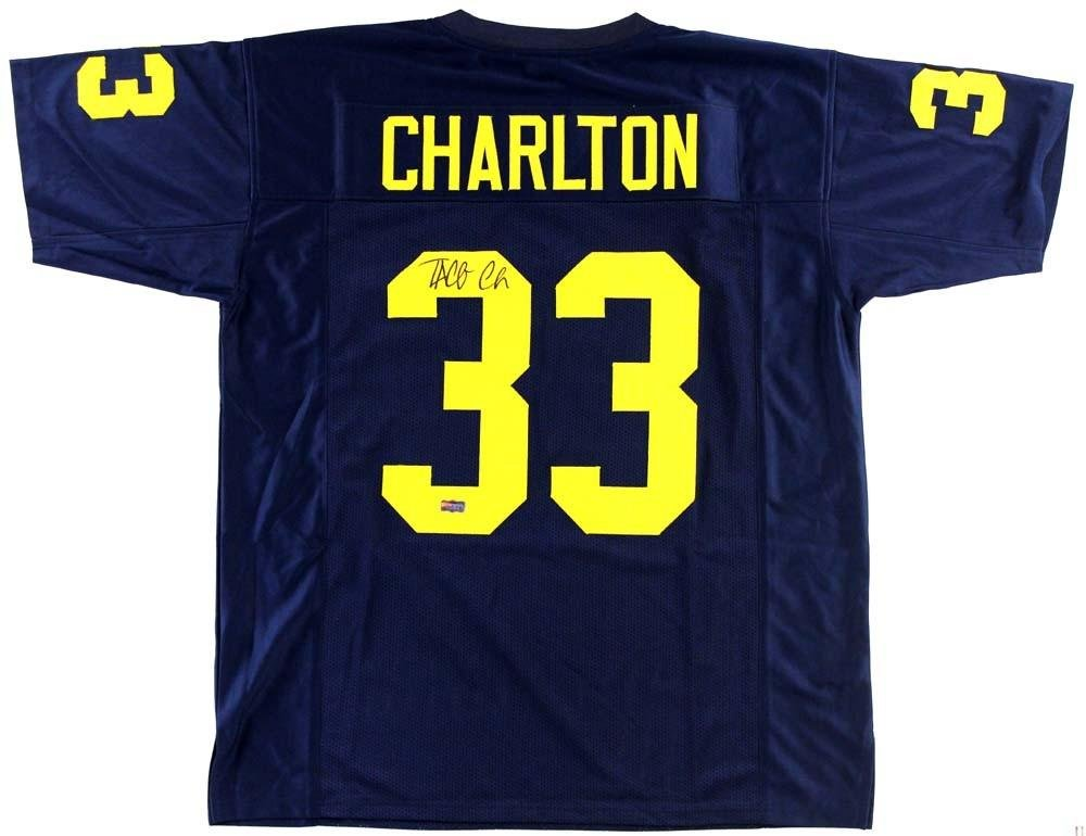 Signed Taco Charlton Jersey - Blue Custom - Autographed College Jerseys at  Amazon s Sports Collectibles Store b480c5621