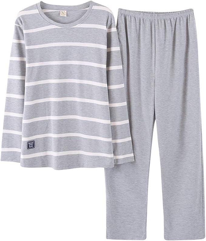 Rojeam Pijamas Hombre Algodón Invierno Otoño 2 Piezas Pijama Set ...