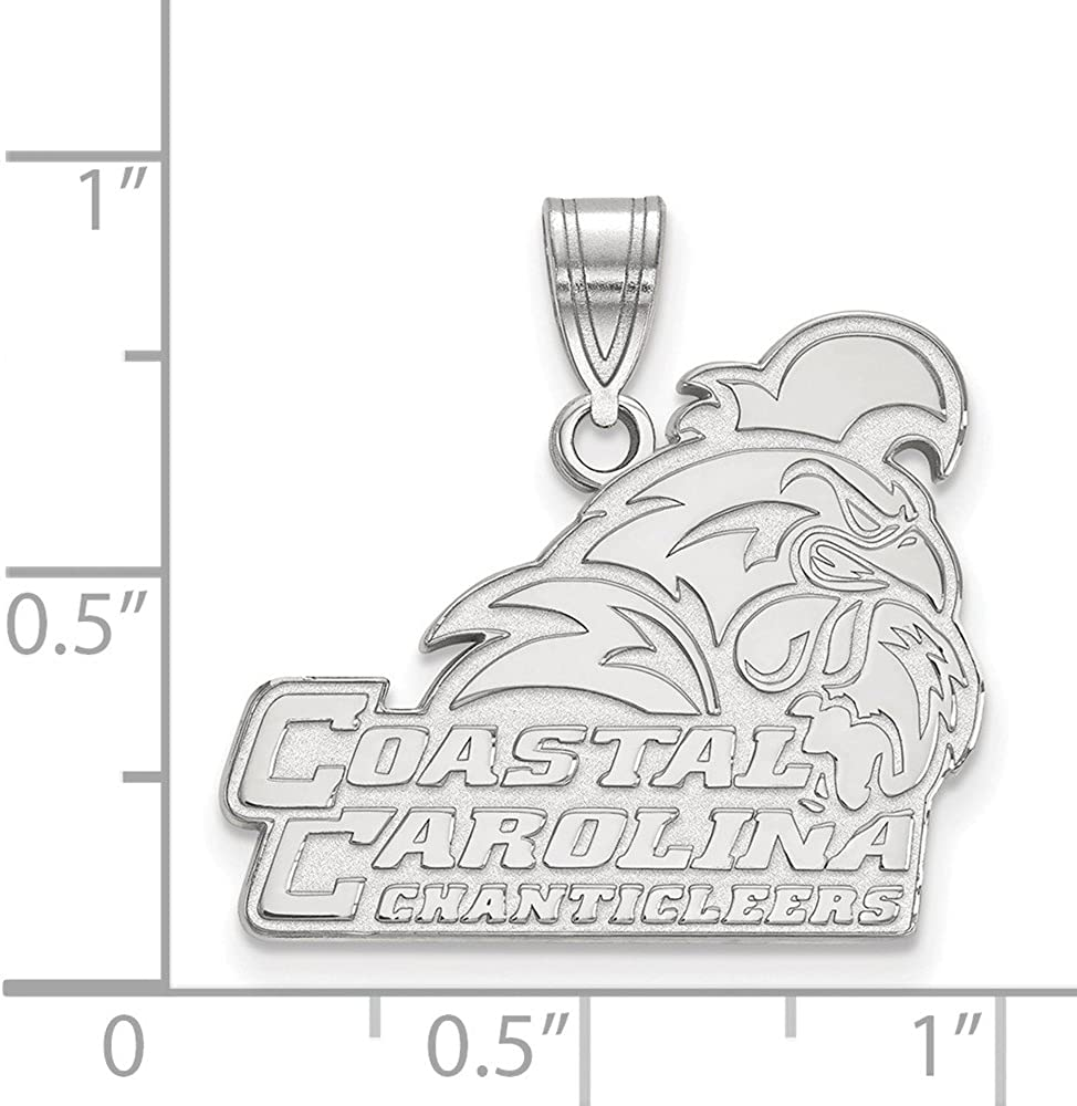 Solid 925 Sterling Silver Official Coastal Carolina University Large Pendant Charm 24mm x 21mm