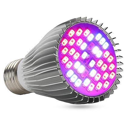 XJLED - Bombilla LED para cultivo de plantas, 9W, E27, CA 85-