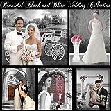 "Digital Backgrounds ""Black & White Wedding Templates"" for Album, Photo Book"