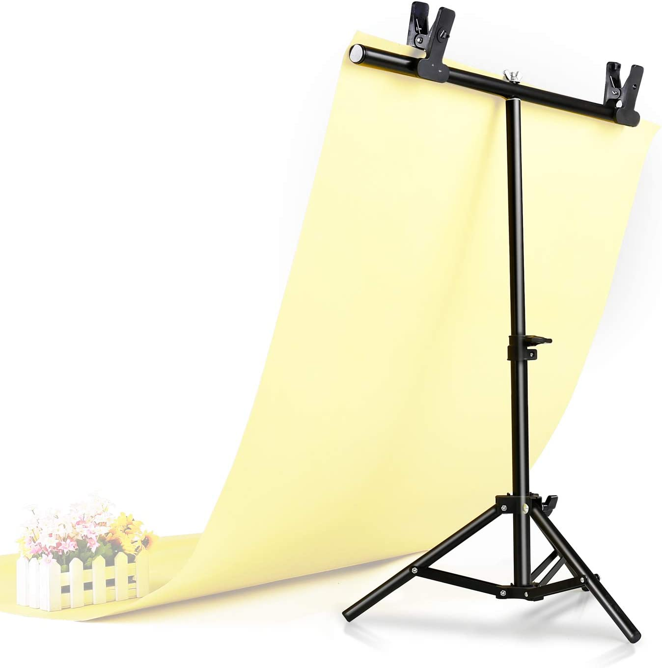 BNSDMM T-Shape Background Backdrop Support Stand Kit 60x70cmT Type Background Plate Bracket PVC Background Plate Aluminum Alloy Material Color : 63x130cm Blue Background Board