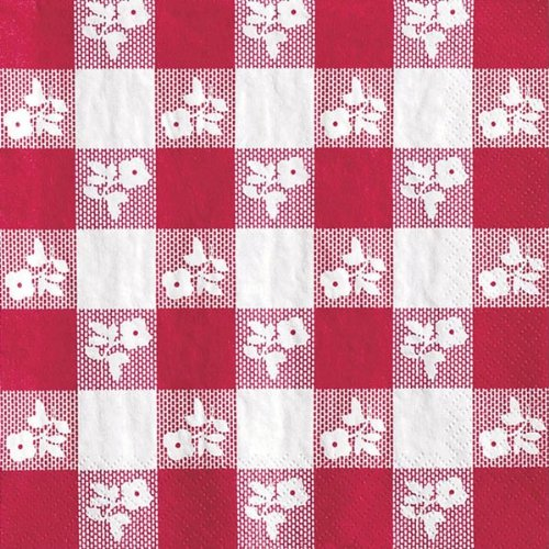 """Converting 21188 Red Gingham 2 Ply Luncheon Napkins, 13"""" x 1"""