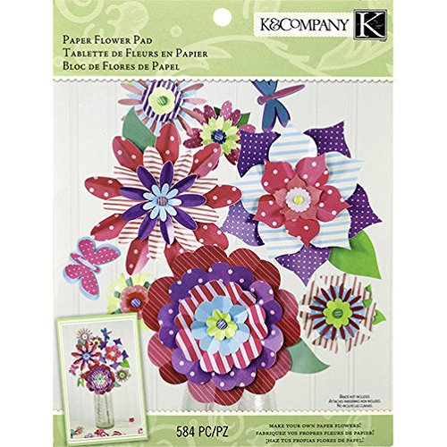 K&Company - Woodland Valentine Paper - 584pc Flower Crafting Pad
