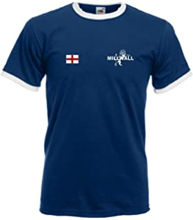 T-Shirt Football Millwall FC George Cross Drapeau Anglais Bleu Marine