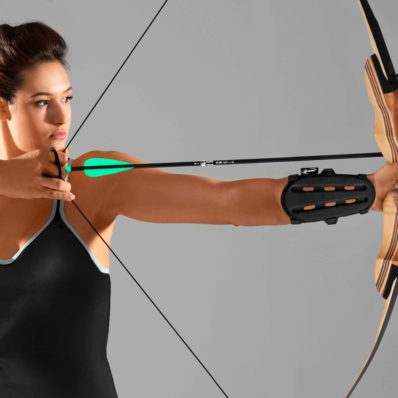 Silicone Archery Arms Guard Shooting Protector Gear Strap Hot Adjustable U1H2