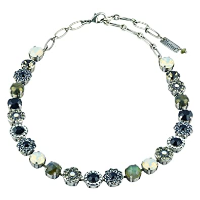 Amazon Mariana French Silk Flower Necklace Silver Plated 18