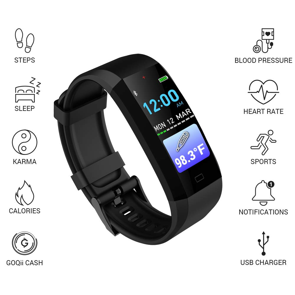 GOQii Vital 3.0 Best fitness activity tracker band in India under 5000