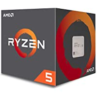 AMD Ryzen 5 1600 65W AM4 Processor with Wraith Spire Cooler (YD1600BBAFBOX)