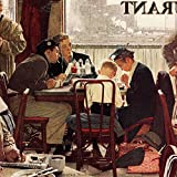 Marmont Hill Norman Rockwell Prints on Canvas ''Saying Grace'' Art Print, 48 by 48''