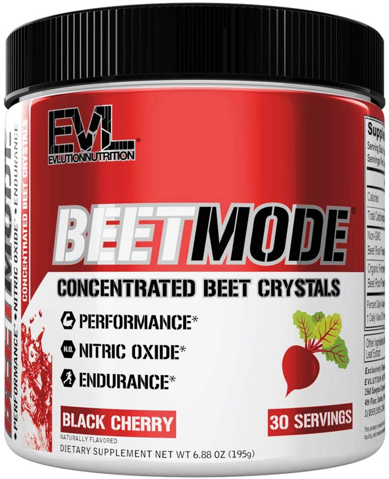 Evlution Nutrition Beet Mode, Concentrated Beet Root Crystals, Nitric Oxide Booster, Natural Circulation, Immune Support, Antioxidants, Vegan, Non-GMO, Endurance, Superfood (Black Cherry, 30 Servings): Health & Personal Care