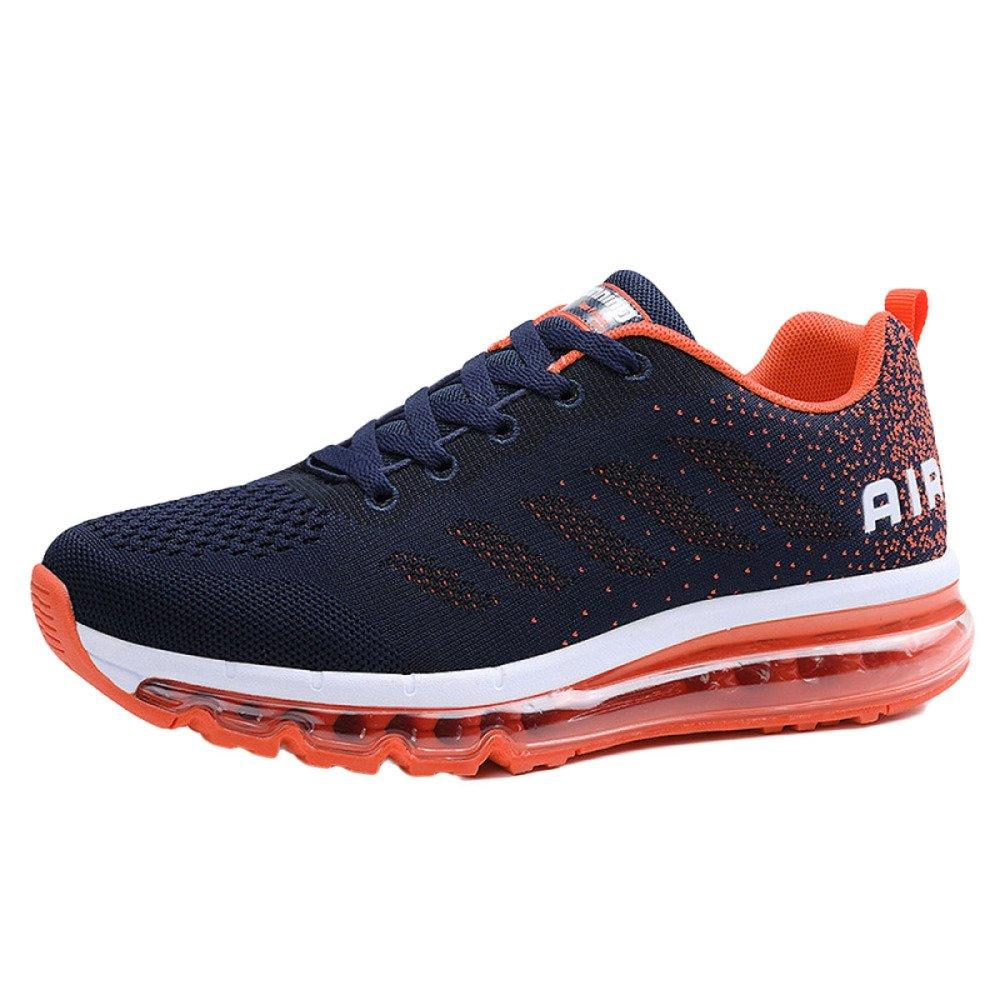 Zapatillas De Running para Hombres Transpirable Unisex Air Cushion Casual Shoes Calzado Deportivo Spring Low Fly Shoes 41 EU|Orange