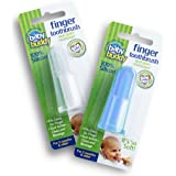 Baby Buddy Finger Toothbrush Stage 2 for Babies/Toddlers, Kids Love Them, Blue/Clear, 2 Count