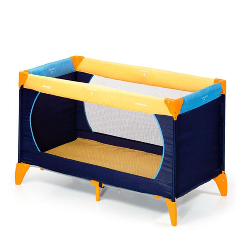 Hauck Disney Baby Dream-n-Play Travel Cot with Folding Mattress Navy 120 x 60 cm and Folding Mattress and Playmat 60 x 120 cm 60 x 120 cm Blue with Bed Me Travel Cot Mattress Sheet
